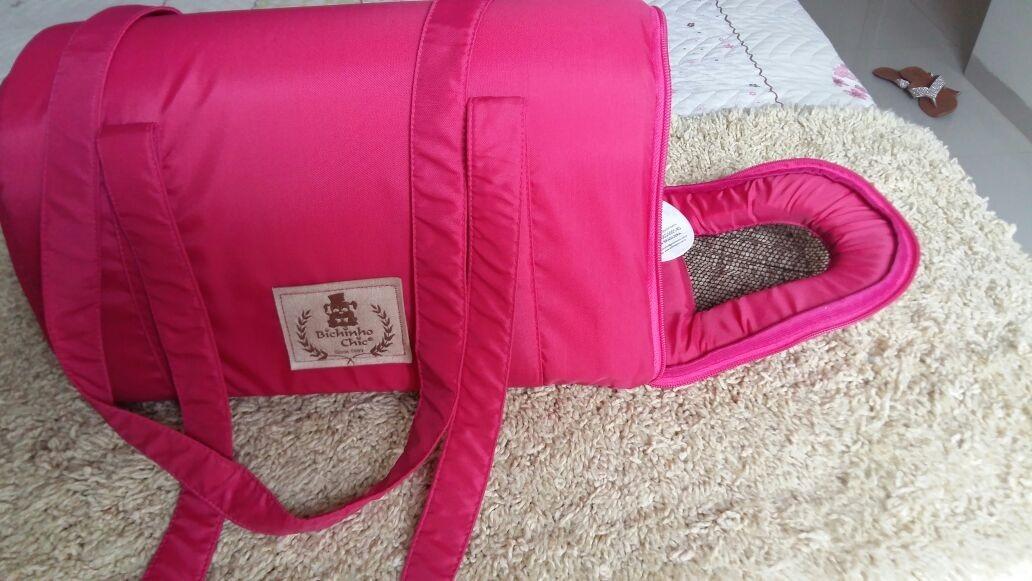 63c1665a2 bolsa luxo bichinho chic para transporte de animais pink - p. Carregando  zoom.