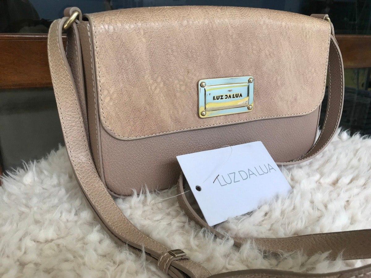 16f9d15b1 Bolsa Luz Da Lua Couro Nude (nova) - R$ 449,00 em Mercado Livre