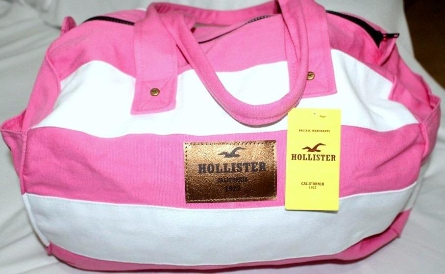 88be19e5a bolsa mala de bordo hollister ziper cores original+ etiqueta. Carregando  zoom.