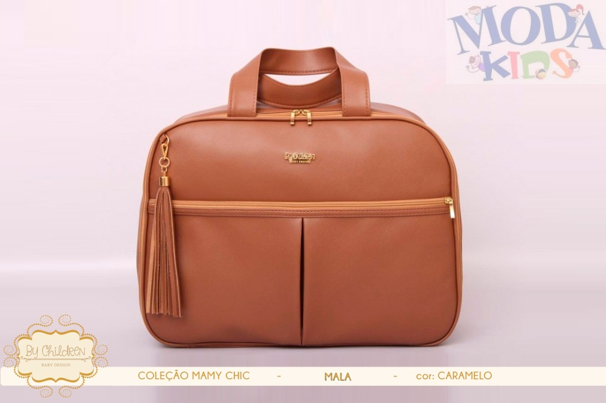 155061a57c1 Bolsa Mala De Luxo - Maternidade - Mamy Chic - Caramelo - R  239