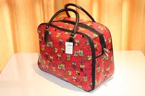 Bolsa De Mao Para Viagem Feminina : Bolsa mala de viagem feminina m?o coruja e estampada