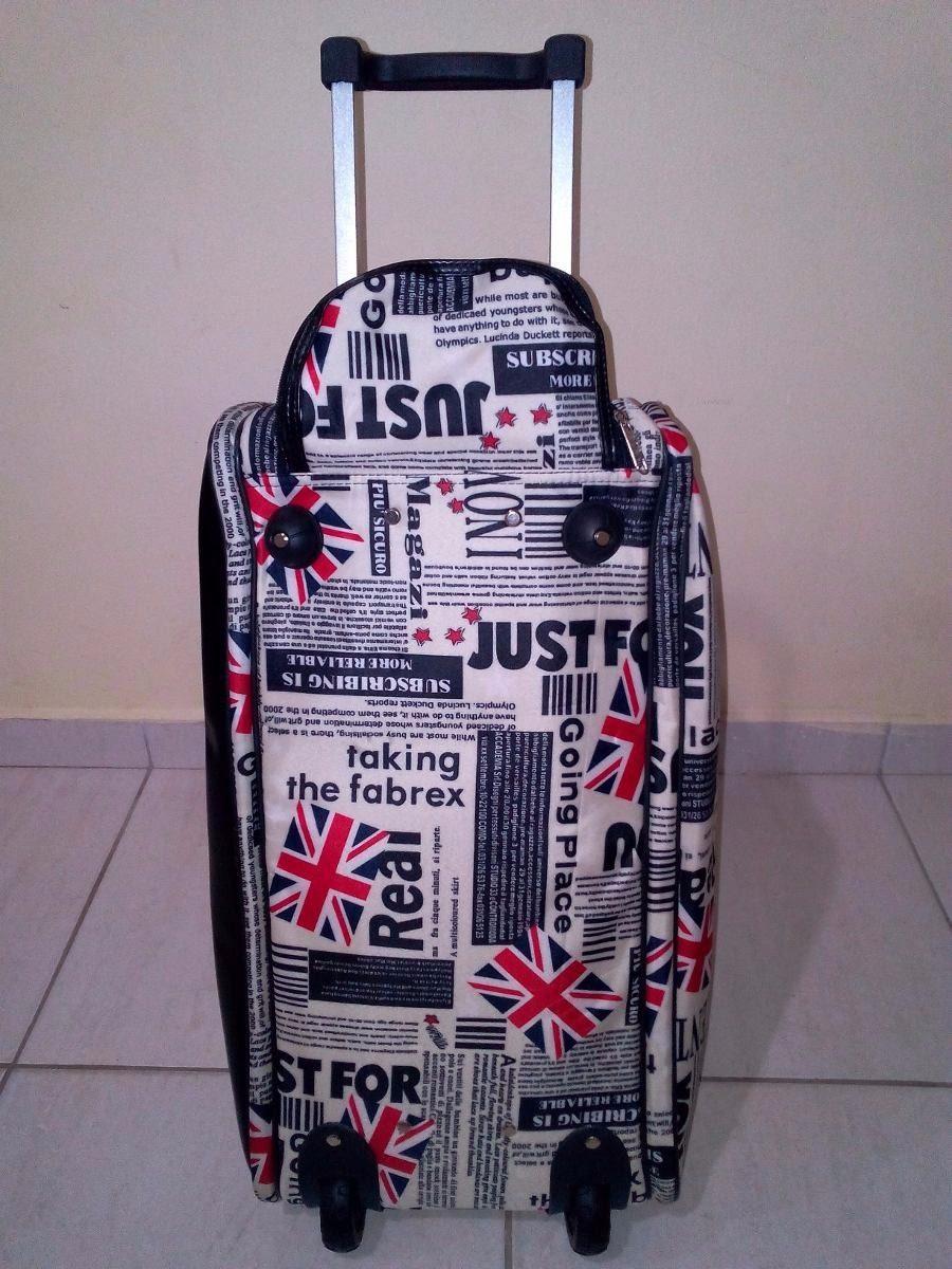 Bolsa de viagem feminina com rodinhas : Bolsa mala de viagem feminina oncinha com rodinha