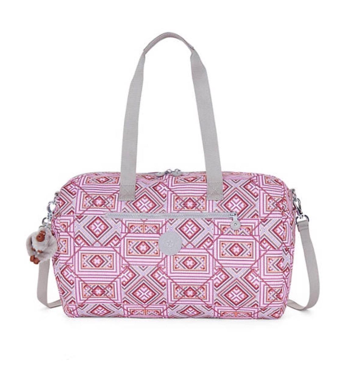 479ea771f Bolsa/ Mala Mão Zaliki Cinza/rosa - R$ 350,00 em Mercado Livre