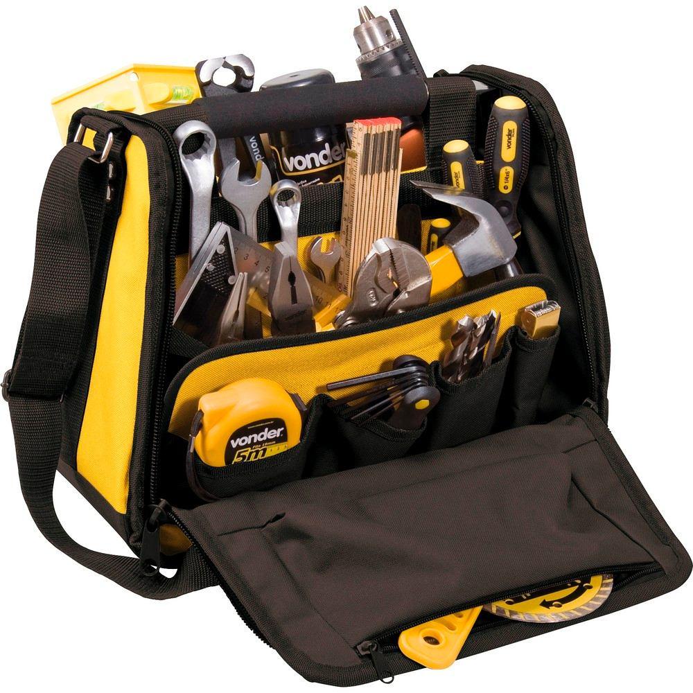 Bolsa De Lona Para Carregar Ferramentas : Bolsa maleta caixa p ferramentas bl vonder lucca