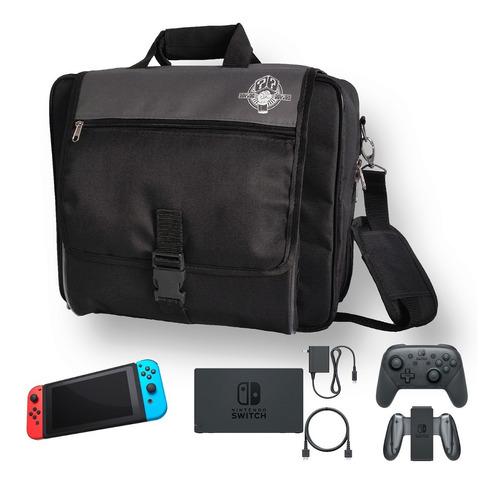 bolsa maleta nintendo switch cabe jogos cabos acessórios