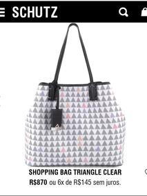 f81852c1d7 Bolsa Nina Schutz Triangle - Bolsas de Couro Branco no Mercado Livre ...