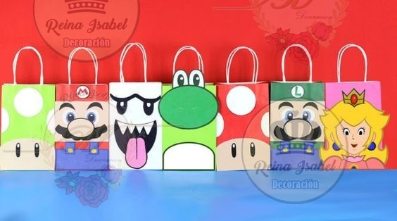 ... Bolsa Mario Bross Baby Shower Pleaños Candy Bar Bautismo ...