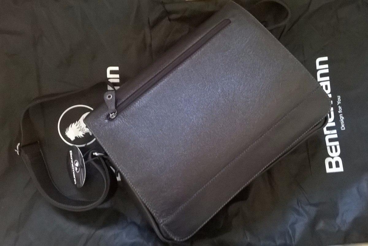 Bolsa De Couro Masculina Armani : Bolsa masculina carteiro tiracolo bennemann couro