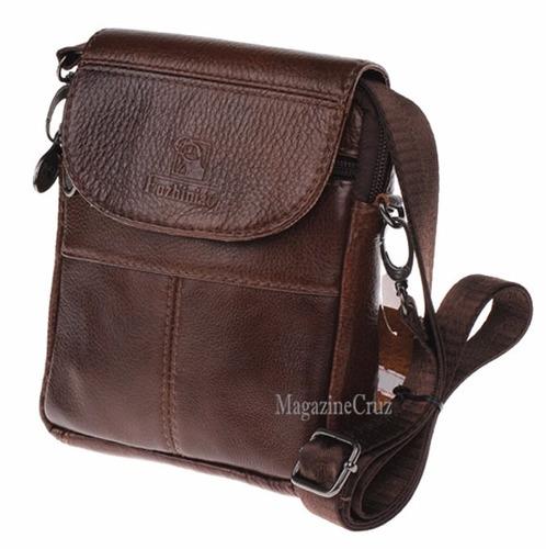 Bolsa De Couro Masculina Mercado Livre : Bolsa masculina importada tiracolo couro c r