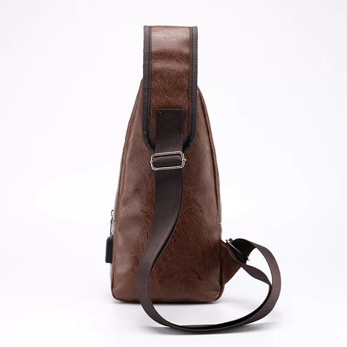 bolsa masculina transversal marrom ou preta