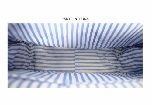 bolsa maternidade grande azul tigor t.tigre - nova/original