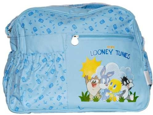 bolsa maternidade looney tunes azul frete gratis