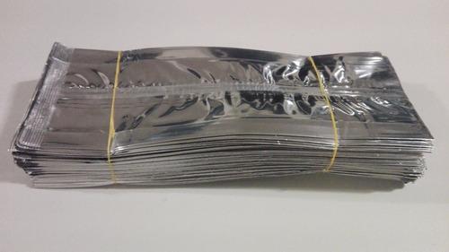 bolsa metalizada con fuelle multiusos plateada 250 gramos