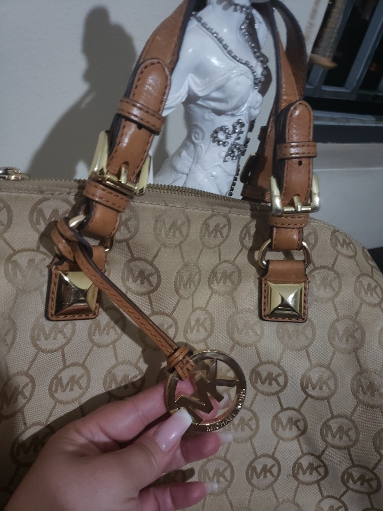 4e294a713 Bolsa Michael Kors Grayson Jacquard - R$ 580,00 em Mercado Livre