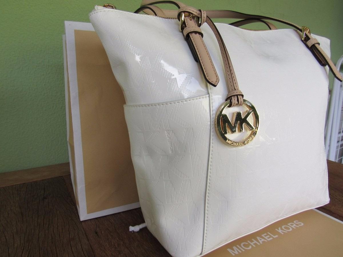 74e42b705 Bolsa Michael Kors Branca Original - R$ 879,00 em Mercado Livre