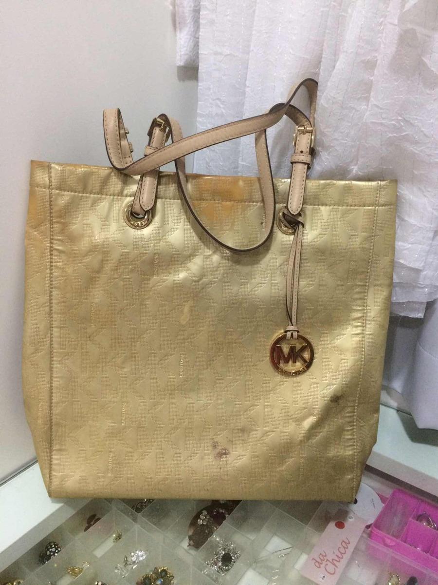 8fc1f6fb1 Bolsa Michael Kors Dourada Linda - R$ 300,00 em Mercado Livre