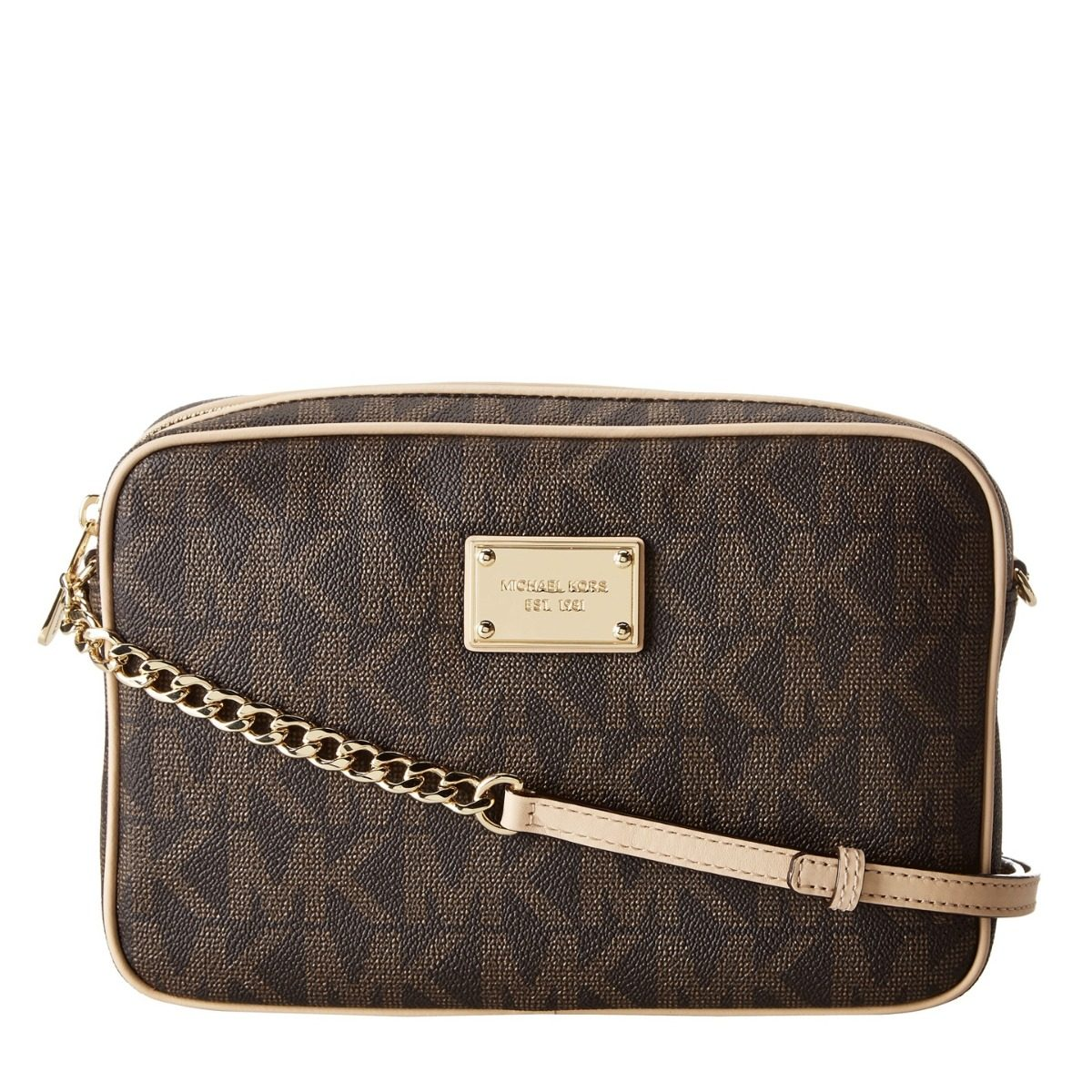 b566a5f23 Bolsa Michael Kors Jet Set Large Crossbody - Brown - R$ 1.350,00 em ...