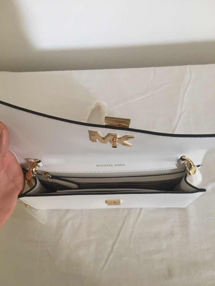 236456df1 bolsa michael kors new optic white couro branco original. Carregando zoom.