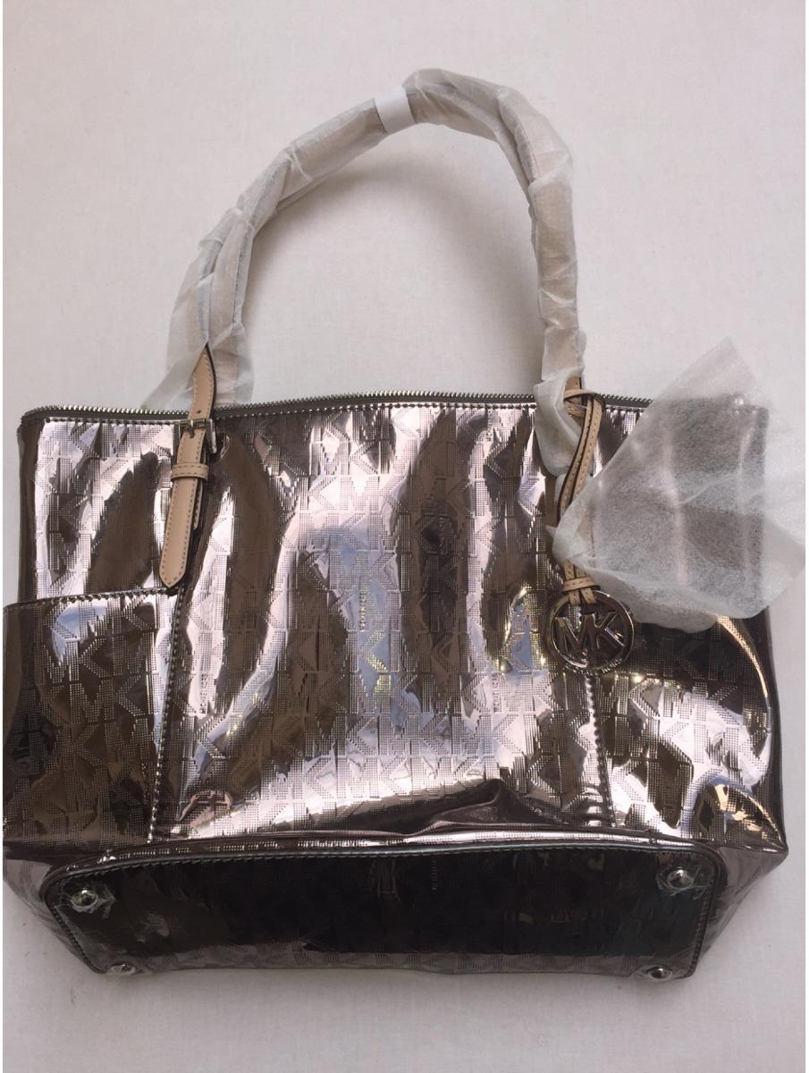 fdb6888ac bolsa michael kors original bronze metálica e preto metalico. Carregando  zoom.