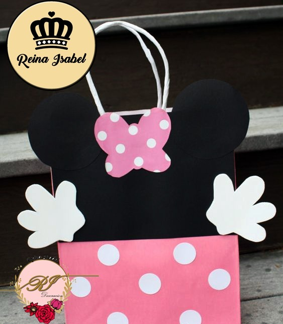 ff3f7387e Bolsa Minnie Candy Bar Baby Shower Cumpleaños - $ 27,99 en Mercado Libre