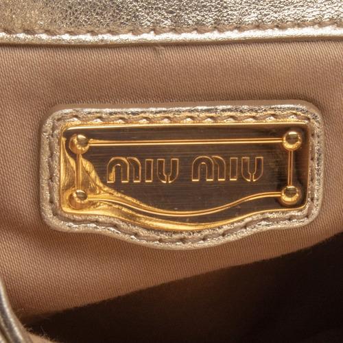 bolsa miu miu dourada