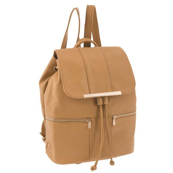aa342437ee3da Bolsa Mochila Backpack Color Camel Sintetico 127805-134 Orig ...