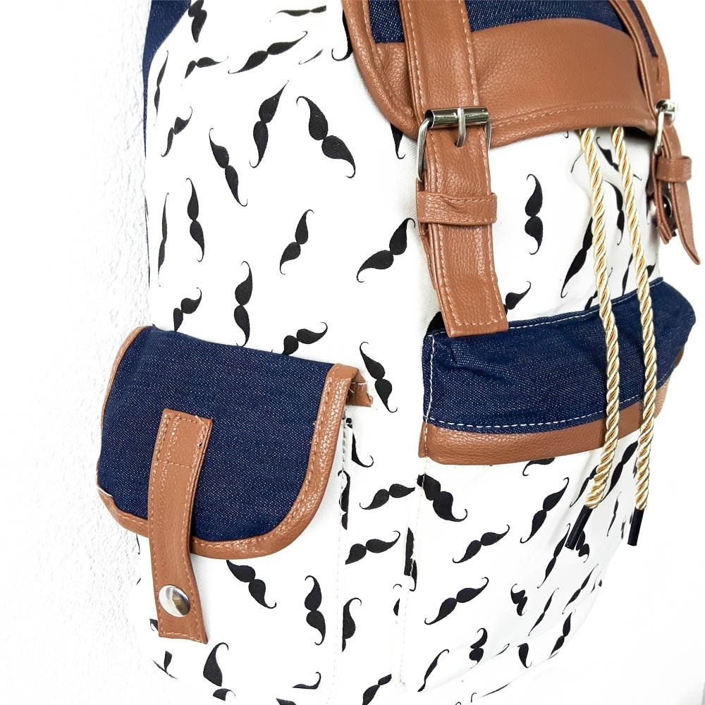 866cebe624 bolsa mochila de lona estampada feminina vários modelo m038p. Carregando  zoom.
