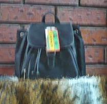 bolsa mochila de seda negra