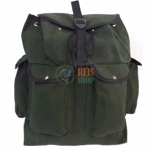 bolsa mochila em lona de caminhão reforçada - pesca camping