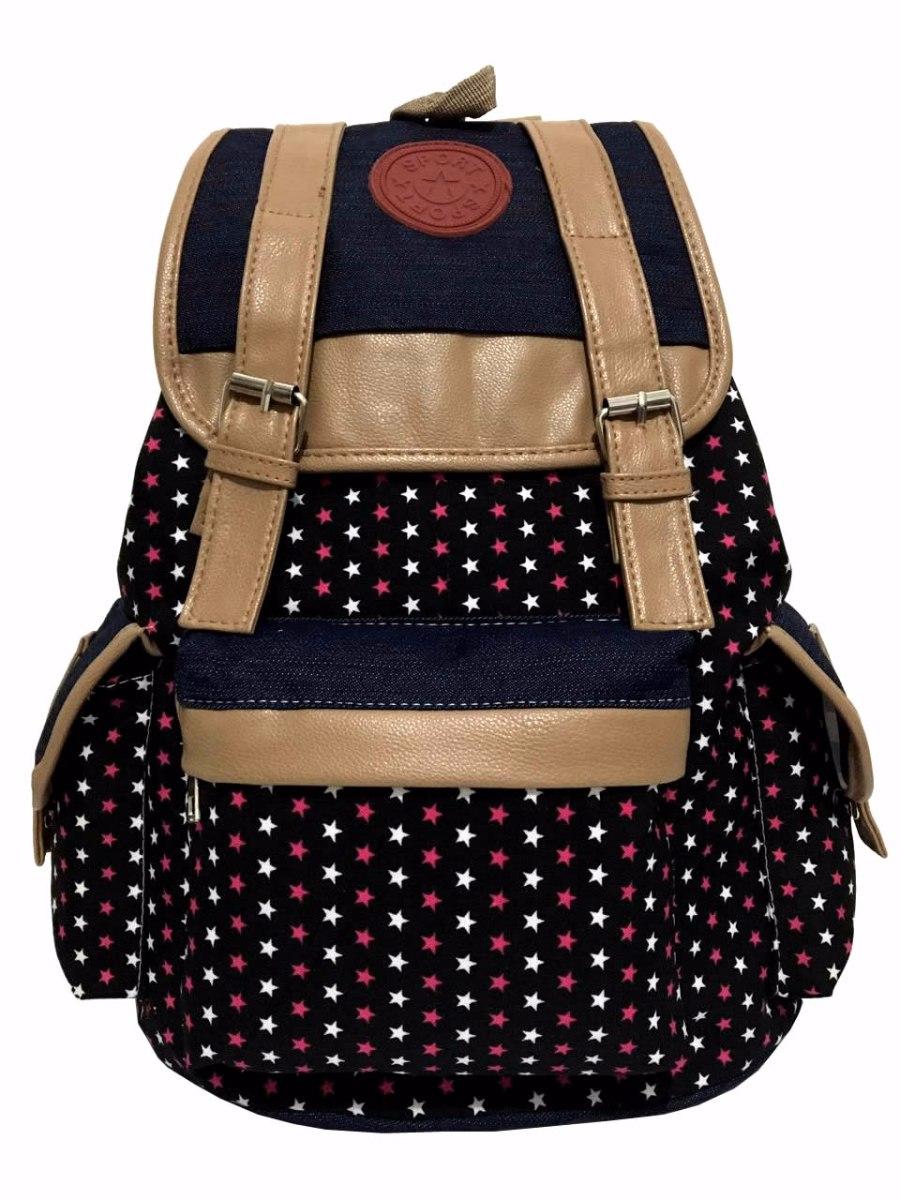 Bolsa Feminina De Costas : Bolsa mochila escolar feminina com estampa star estrela