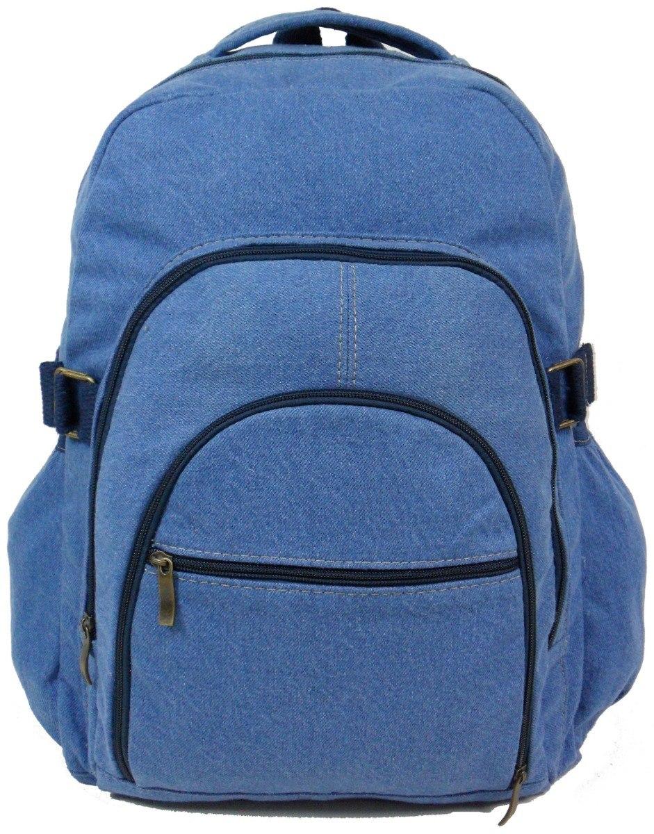 d30897bab bolsa mochila escolar trabalho viagem jeans resistente azul. Carregando  zoom.