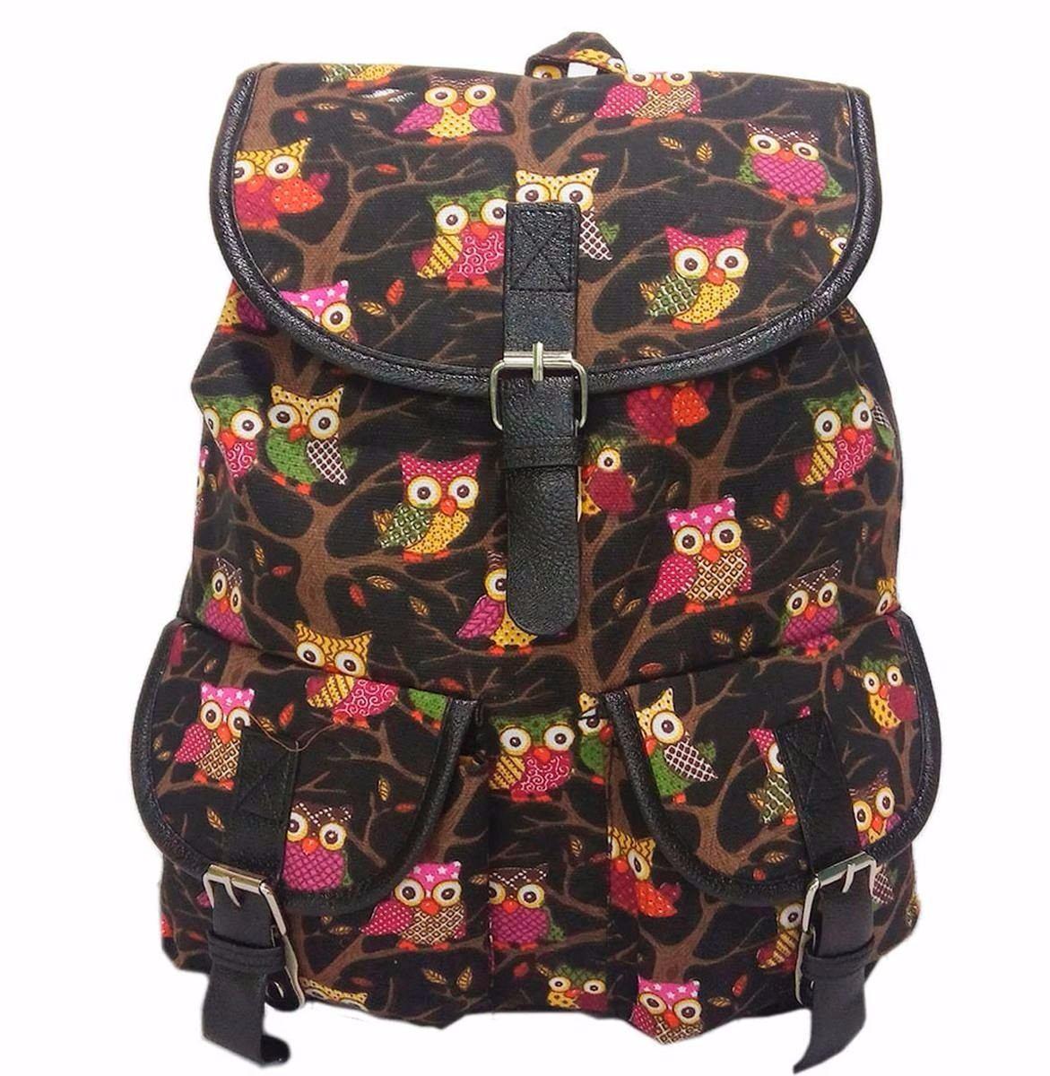 Bolsa Escolar Dos Minions Feminina : Bolsa mochila feminina com estampa de coruja r em