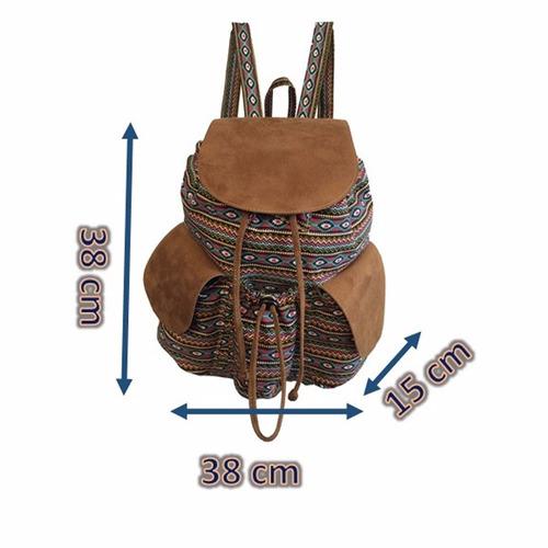 bolsa mochila feminina grande étnica estampa promoção