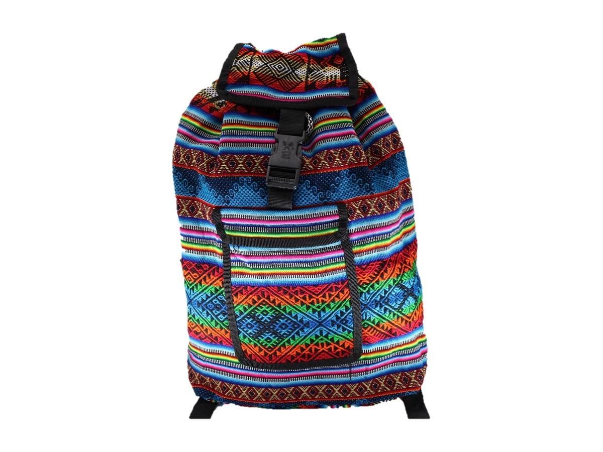 87b4ef4a55 bolsa mochila feminina importada tecido etnico peruana. Carregando zoom.