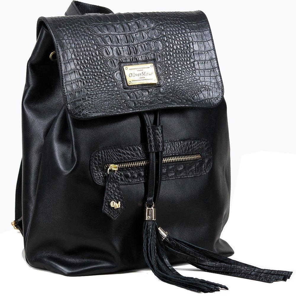 b95ec1ffb bolsa mochila feminina luxo em couro legítimo. Carregando zoom.