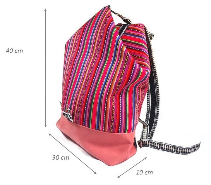 75c629cbb Bolsa Mochila Feminina Tecido Peruano - R$ 99,90 em Mercado Livre