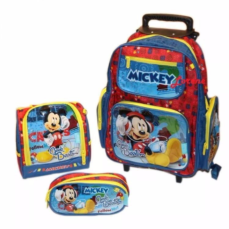 75bda5c3f Bolsa Mochila Infantil Escolar Rodinha Mickey - Promoção - R$ 189,90 em  Mercado Livre
