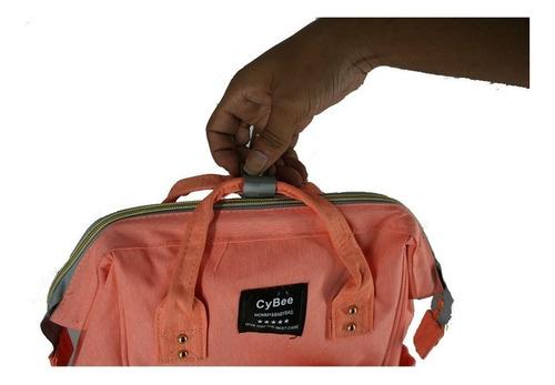 bolsa mochila mamãe bebê maternidade mamadeira cybee