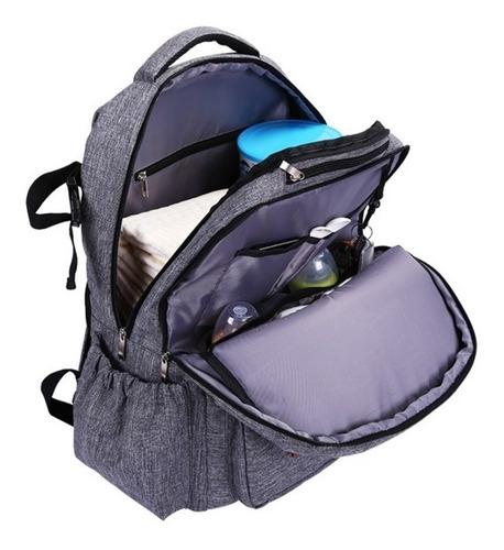 bolsa mochila maternidade dupla porta notebook termica certs