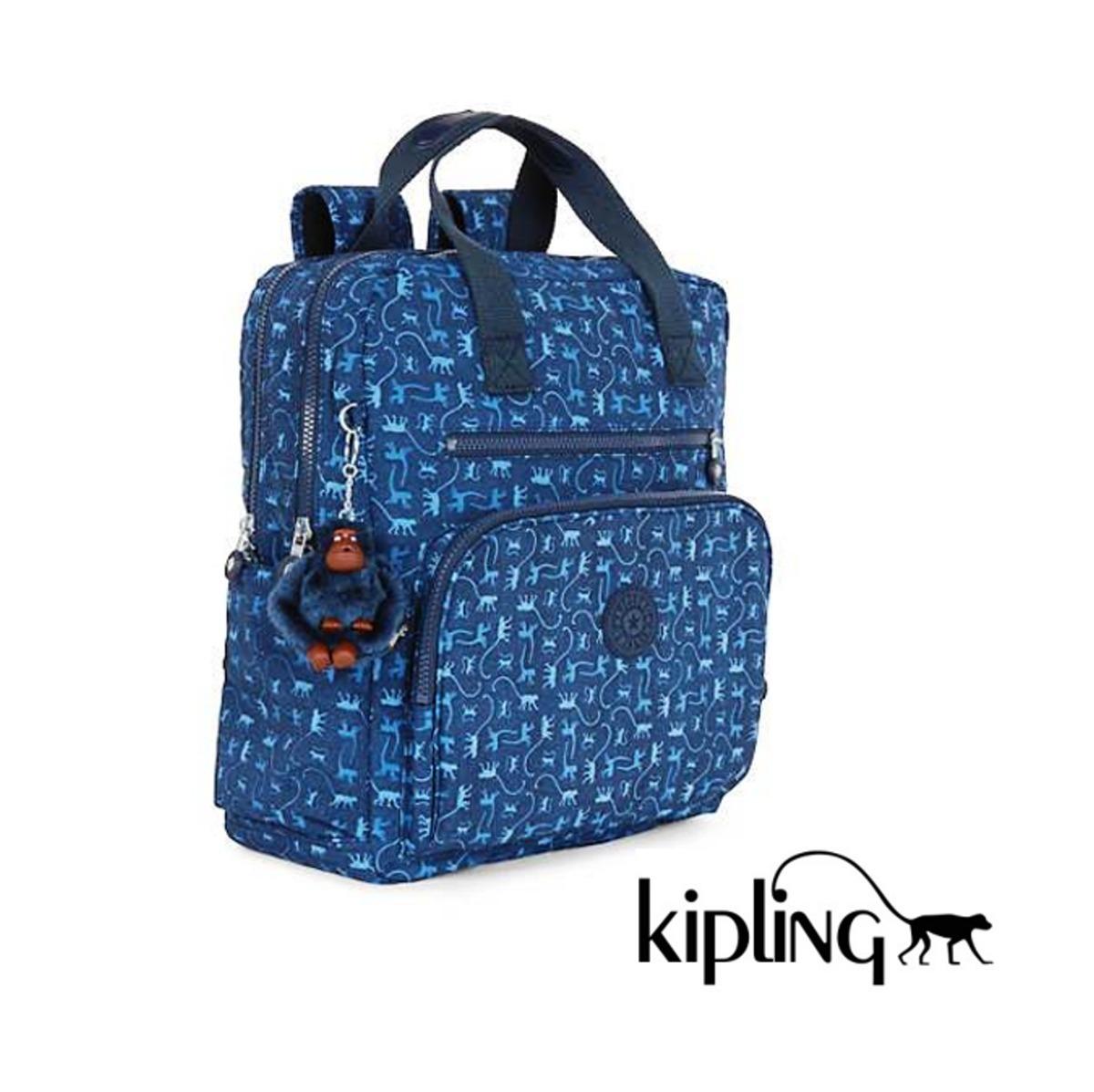 699 Bolsa Maternidade Kipling Monkey Mania Blue Audrie R Mochila kZiPuX