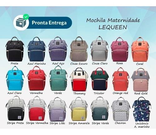 bolsa mochila maternidade lequeen original - pronta entrega