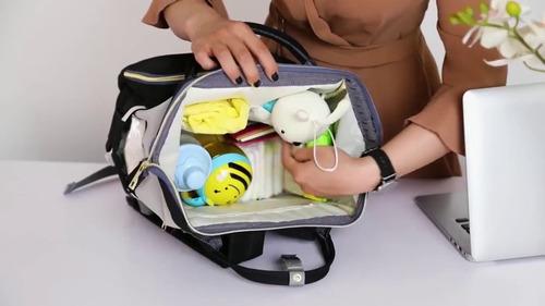 bolsa mochila maternidade original térmica - envio imediato