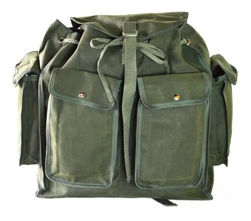 bolsa mochila mochilão em lona encerada repelente a água