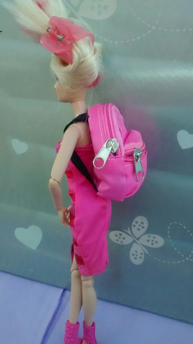 bolsa mochila p/ boneca barbie, monster high,bjd, blythe
