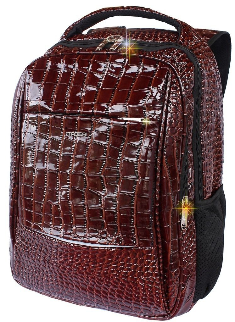 abb37e775 bolsa mochila resistente impermeável couro sintético escolar. Carregando  zoom.