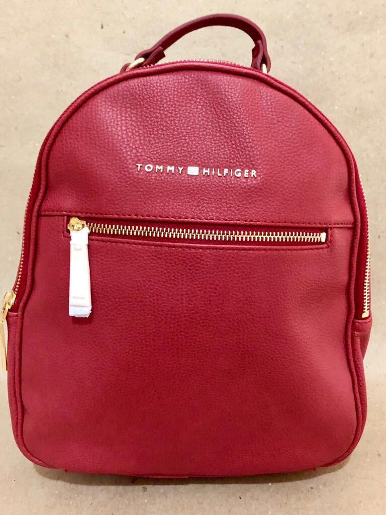 aa9658146 Bolsa Mochila Tommy Hilfiger Vermelha - R$ 330,00 em Mercado Livre