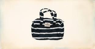 bolsa mochila viagem hollister by abercrombie azul e branco