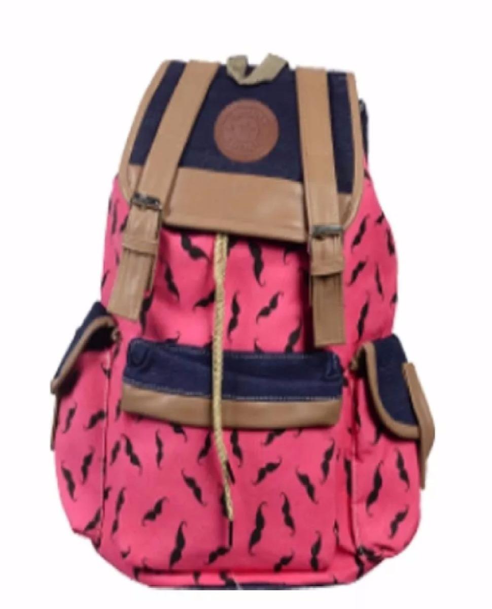 Bolsa Escolar Feminina Mercado Livre : Bolsa mochilas femininas c estampa bigode escolar