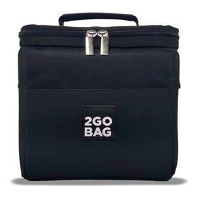 Bolsa Mochilinha Térmica Lanches Potes Fit 2gobag Mini Black
