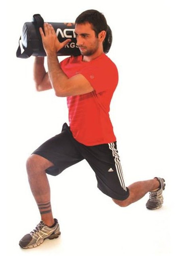 bolsa multifuncional com pesos 10kg - acte sports